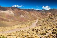 PAISAJE EN RUTA 40 RUMBO A SAN ANTONIO DE LOS COBRES, PROV. DE SALTA, ARGENTINA