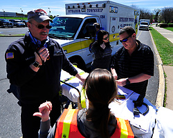 AJ Heightman, editor-in-chief of the Journal of Emergency Medical Services returns to Bethlehem Township to conduct a training seminar on mass casualty incidents on April  23, 2017, in Bethlehem Township. Heightman was also reunited with Rodney Barron who Heightman delivered as a premature baby 27 years ago. (Chris Post   lehighvalleylive.com contributor)