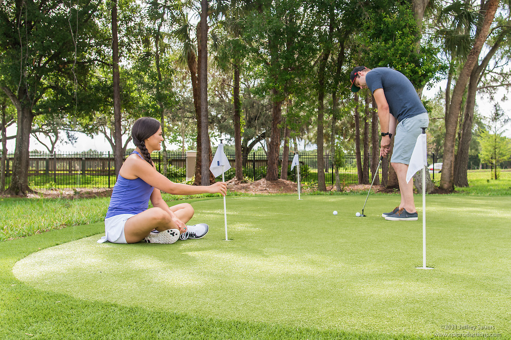 Lifestyle photo of the Putting Green at Epic at Gateway Centre in St. Petersburg Florida by Jeffrey Sauers of Commercial Photographics, Architectural Photo Artistry in Washington DC, Virginia to Florida and PA to New England