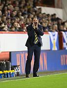 9th November 2017, Pittodrie Stadium, Aberdeen, Scotland; International Football Friendly, Scotland versus Netherlands; Scotland interim boss Malky Mackay