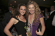 NATASHA CORRETT AND KELLY HOPPEN, THREE'S A CROWD EVENTS LAUNCHES, THE MAYFAIR HOTEL BAR, STATTON ST. LONDON.<br />