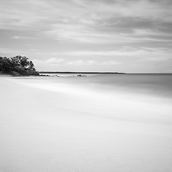 Makena Big Beach Maui Hawaii black and white photo. Big Beach is in Wailea-Makena Hawaii and is one of Maui's most popular beaches. Copyright ⓒ 2019 Paul Velgos with All Rights Reserved.