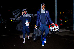 Marcus Delpeche of Bristol Flyers and Justin Gray of Bristol Flyers - Photo mandatory by-line: Robbie Stephenson/JMP - 11/01/2019 - BASKETBALL - Leicester Sports Arena - Leicester, England - Leicester Riders v Bristol Flyers - British Basketball League Championship