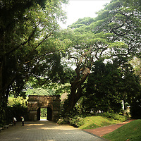 APRIL 16, 2013 — SINGAPORE: Fort Canning Park is part of Singapore's heritage. Once the site of Malay Kings palaces and the Far East Command Centre and British Army Barracks HQ, it now hosts many concerts, festivals, and art celebrations.