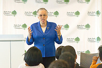 "Toni Preckwinkle spoke Tuesday afternoon, May 23rd, 2017 about the state of Cook County during a presentation titled, ""State of the County Coffee with Toni Preckwinkle"". The event was held in the Harper Court Conference Room located at 5235 S. Harper.<br /> <br /> Please 'Like' ""Spencer Bibbs Photography"" on Facebook.<br /> <br /> All rights to this photo are owned by Spencer Bibbs of Spencer Bibbs Photography and may only be used in any way shape or form, whole or in part with written permission by the owner of the photo, Spencer Bibbs.<br /> <br /> For all of your photography needs, please contact Spencer Bibbs at 773-895-4744. I can also be reached in the following ways:<br /> <br /> Website – www.spbdigitalconcepts.photoshelter.com<br /> <br /> Text - Text ""Spencer Bibbs"" to 72727<br /> <br /> Email – spencerbibbsphotography@yahoo.com"