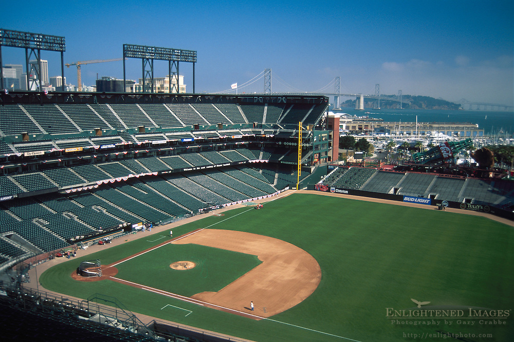AT&T Park, San Francisco, California - Professional Baseball Stadium empty.