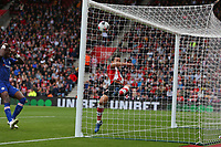 Football - 2019 / 2020 Premier League - Southampton vs. Chelsea<br /> <br /> An acrobatic clearance from Southampton's Maya Yoshida fails to keep the ball from crossing the line from a lob by Tammy Abraham of Chelsea at St Mary's Stadium Southampton<br /> <br /> COLORSPORT/SHAUN BOGGUST