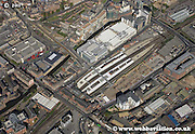 aerial photograph of  Nottingham Railway Station  Nottingham Nottinghamshire  England Great Britain UK