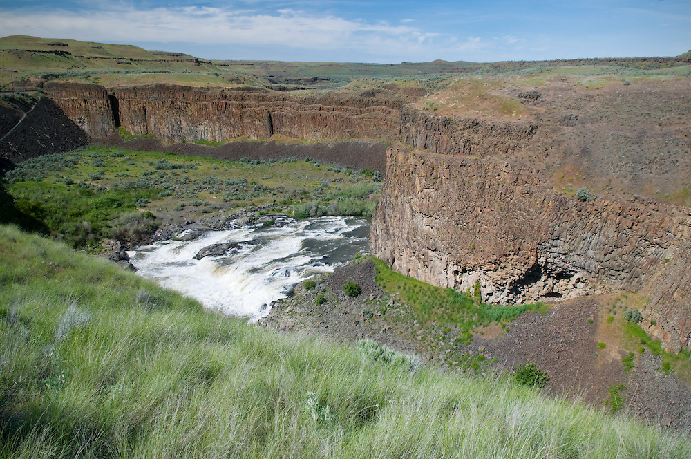 The Palouse River as it approaches Palouse Falls.