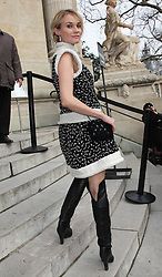 Diane Kruger  arriving at the Chanel haute couture show in Paris, Tuesday 24th January 2012.  Photo by: Stephen Lock / i-Images