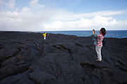 Big Island. Hawai'i Volcanoes National Park. Outer borders of Kilauea's active lava flow (1983-now).