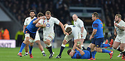 Twickenham, Great Britain, Chris ROBSHAW breaking with the ball, during,  Six Nations Rugby England vs France, played at the RFU Stadium, Twickenham, ENGLAND. <br /> <br /> Saturday   21/03/2015<br /> <br /> [Mandatory Credit; Peter Spurrier/Intersport-images]