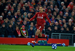 LIVERPOOL, ENGLAND - Tuesday, December 11, 2018: Liverpool's Virgil van Dijk during the UEFA Champions League Group C match between Liverpool FC and SSC Napoli at Anfield. (Pic by David Rawcliffe/Propaganda)