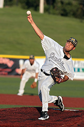 06 June 2014:  Bobby Shore during a Frontier League Baseball game between the Frontier Freedom and the Normal CornBelters at Corn Crib Stadium on the campus of Heartland Community College in Normal Illinois