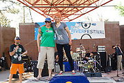 Sage Donnelly, on the podium at the the  Reno Riverfestival 2014