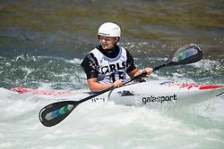 Viktoriia US of Ukraine during the Canoe Single (WK1) Womens Final race of 2019 ICF Canoe Slalom World Cup 4, on June 28, 2019 in Tacen, Ljubljana, Slovenia. Photo by Sasa Pahic Szabo / Sportida