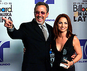 Emilio and Gloria Estefan at the 2002 Latin Billboard Awards. Colin Braley-Photo