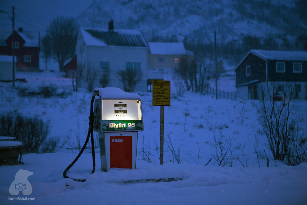 Lone fuel pump, Finnmark, Norway.