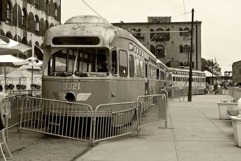 The outside of an old trolley car that once served most of Brooklyn into the 1950s. Most were sold to Philadelphia, where some are still in service. I last rode one of these cars as a child to Coney Island via Mac Donald Avenue in Brooklyn. Probably until 1958 or 1959.
