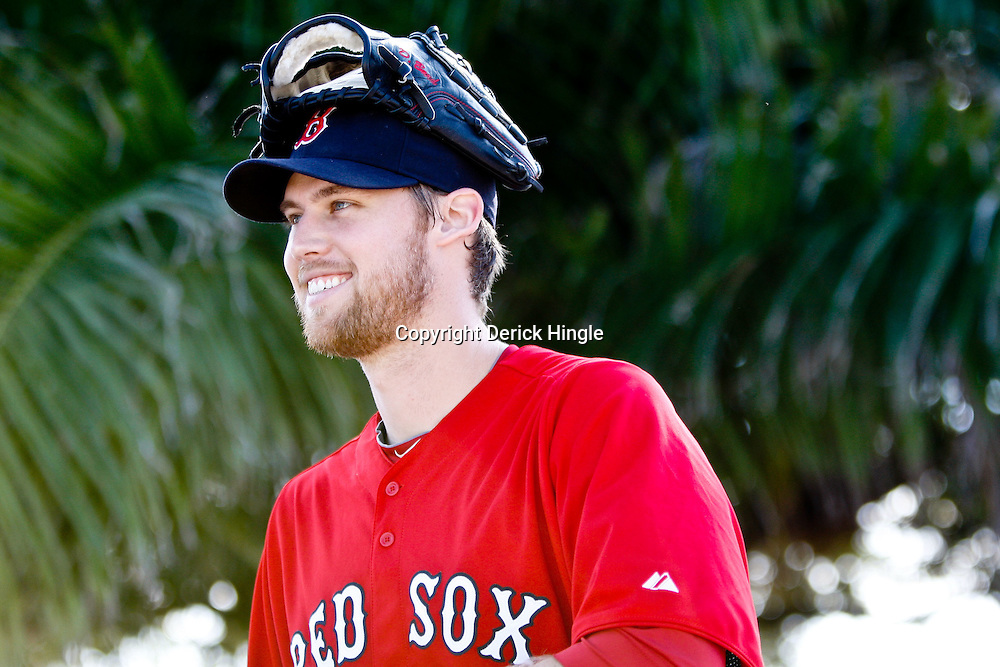 February 18, 2011; Fort Myers, FL, USA; Boston Red Sox relief pitcher Daniel Bard (51) during spring training at the Player Development Complex.  Mandatory Credit: Derick E. Hingle