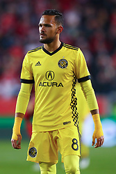 November 11, 2018 - Harrisonrmas, NJ, U.S. - Harrison, NJ - NOVEMBER 11:  Columbus Crew midfielder Artur (8) during the first half of the Major League Soccer Eastern Conference Semifinals between the Columbus Crew SC and the NY Red Bulls on November 11, 2018 at Red Bull Arena in Harrison, NJ.   (Photo by Rich Graessle/Icon Sportswire) (Credit Image: © Rich Graessle/Icon SMI via ZUMA Press)