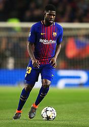 Samuel Umtiti of Barcelona - Mandatory by-line: Matt McNulty/JMP - 14/03/2018 - FOOTBALL - Camp Nou - Barcelona, Catalonia - Barcelona v Chelsea - UEFA Champions League - Round of 16 Second Leg
