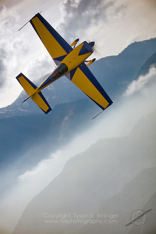 Extra 300 flown by Tim Just over the San Bernadino Mountains
