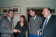 HE ION JINGA Ambassador of Romania; SHARON HARNOY;   PETER HARRAP; H.E. RON PROSOR The Israeli ambassador; PETER HARRAP;, No New Thing Under the Sun. Royal Academy. Piccadilly. London. 20 OCTOBER 2010. -DO NOT ARCHIVE-© Copyright Photograph by Dafydd Jones. 248 Clapham Rd. London SW9 0PZ. Tel 0207 820 0771. www.dafjones.com.