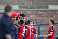 Dundee new boy Sofien Moussa celebrates after scoring on his debut - Raith Rovers v Dundee, Betfred Cup at Starks Park, Kirkcaldy, Photo: David Young<br /> <br />  - &copy; David Young - www.davidyoungphoto.co.uk - email: davidyoungphoto@gmail.com