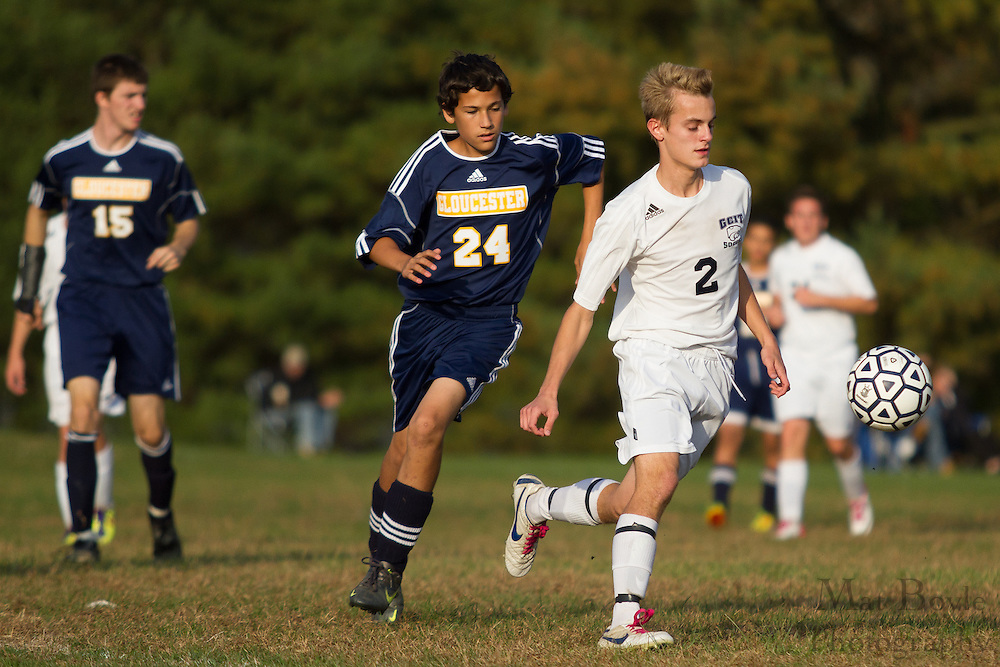 Gloucester County Institute of Technology Boy's Soccer hosts Gloucester City High School at Atkitson Park on Tuesday October 23, 2012. (photo / Mat Boyle)