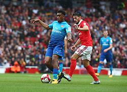 July 29, 2017 - London, United Kingdom - Arsenal's Alex Iwobi.during Emirates Cup match between RB Arsenal against Benfica  at Emirates Stadium on 29 July 2017  (Credit Image: © Kieran Galvin/NurPhoto via ZUMA Press)