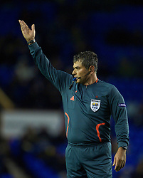 LIVERPOOL, ENGLAND - Thursday, December 17, 2009: Referee Selcuk Dereli takes charge of Everton's 1-0 defeat to FC BATE Borisov during the UEFA Europa League Group I match at Goodison Park. (Pic by David Rawcliffe/Propaganda)