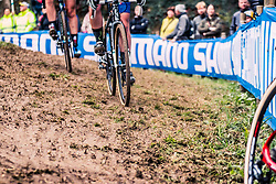 Mud and grass during the Women's race, UCI Cyclo-cross World Cup at Valkenbrug, The Netherlands, 23 October 2016. Photo by Pim Nijland / PelotonPhotos.com | All photos usage must carry mandatory copyright credit (Peloton Photos | Pim Nijland)