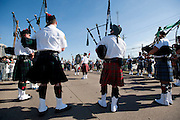 Pipes & Drums warm up before the Dallas St. Patrick's Parade on Greenville Avenue, Saturday, March 16, 2013. (Cooper Neill/The Dallas Morning News)