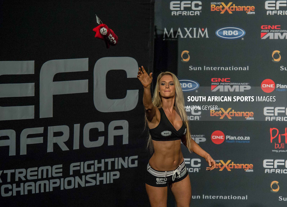 GRANDWEST GRAND ARENA, CAPE TOWN, SOUTH AFRICA - JUNE 4, Laura Danielz during weigh-in at EFC 30 at the Grandwest Casino, Cape Town, South Africa. (Photo by Anton Geyser)