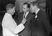 8/9/1964<br /> 9/8/1964<br /> 8 September 1964<br /> <br /> Mr. A. Behan the Assitant Managing Director for Urney Choclates,Mr. P. O'Hannraghain Director of Goverment Information and Mr. Eric Prichard the Sales Manager