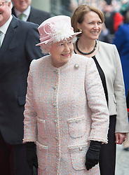 LONDON- UK - 27-MAR-2014: The Queen and The Duke of Edinburgh will visit Lloyd's of London to commemorate the market's 325th anniversary, One Lime Street, London<br /> Photograph by Ian Jones