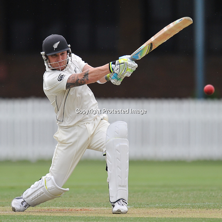 Brendon McCullum during action from the Day 1 of the Tour match between Australia A and New Zealand played at Allan Border Field from 24th - 27th November 2011~ Photo Credit Required : Steven Hight (AURA Images) ~ Editorial Use only in accordance with CA Terms & Conditions (2011-12)