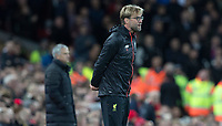 Football - 2016 / 2017 Premier League - Liverpool vs. Manchester United<br /> <br /> Liverpool's Jurgen Klopp during the match at Anfield.<br /> <br /> COLORSPORT