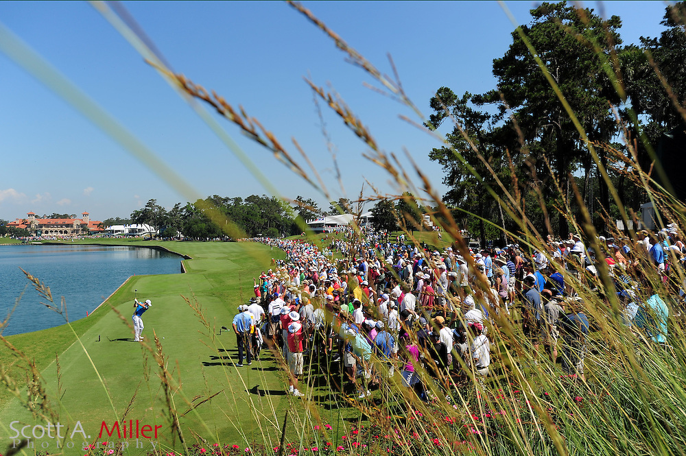 Rory McIllroy tees off on the 18th hole during the second round of the Players Championship at the TPC Sawgrass on May 11, 2012 in Ponte Vedra, Fla. ..©2012 Scott A. Miller..