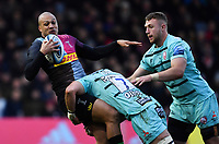 Rugby Union - 2019 / 2020 Gallagher Premiership - Harlequins vs. Gloucester<br /> <br /> Harlequins' Travis Ismaiel is tackled by Gloucester's Lewis Ludlow, at The Stoop.<br /> <br /> COLORSPORT/ASHLEY WESTERN