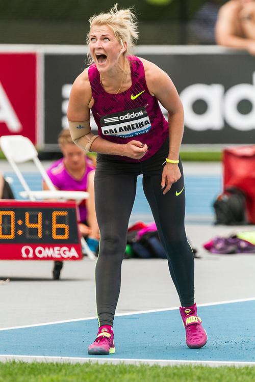 Madara Palmeinka, Latvia, women's javelin, adidas Grand Prix Diamond League track and field meet