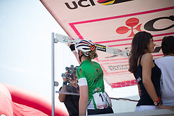 Anna van der Breggen (NED) of Rabo-Liv Cycling Team signs on before the Giro Rosa 2016 - Stage 1. A 104 km road race from Gaiarine to San Fior, Italy on July 2nd 2016.