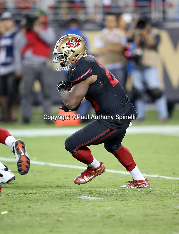 San Francisco 49ers quarterback Colin Kaepernick (7) runs the ball during the 2015 NFL week 1 regular season football game against the Minnesota Vikings on Monday, Sept. 14, 2015 in Santa Clara, Calif. The 49ers won the game 20-3. (©Paul Anthony Spinelli)
