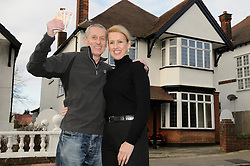 "© Licensed to London News Pictures. 07/01/2012.Bromley couple Graham and King Pamela Rutter have decided to give away their house in a Prize Property Competition. Frustrated after months of being unable to sell the family home because of the current economic climate,  Graham and Partner Pamela from Cromwell Avenue in Bromley have set up a website (www.prizeproperty.co.uk) so that people can view the property and purchase tickets for the competition at £30.00 each, people will have to answer three questions about Bromley to enter. The competition which is due to start this week will run until June 29 2012..Mr King needs to sell 25.000 tickets for the prize draw to go ahead. If fewer than 23,400 tickets are sold a cash prize will be given to the winner instead. Mr King a Business Consultant said ""The biggest challenge will be to sell enough tickets""..Weather Photo credit : Grant Falvey/LNP"