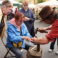 Coppersmith Mark Wilson giving a workshop at the Scariff Harbour Festival at the weekend.<br /> Photograph by Yvonne Vaughan