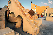 The Jantar Mantar monument in Jaipur, Rajasthan is a collection of nineteen architectural astronomical instruments built by the Rajput king Sawai Jai Singh II, and completed in 1734. It features the world's largest stone sundial, and is a UNESCO World Heritage site.