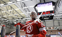 2020-03-06   Ljungby, Sverige: Troja-Ljungby (28) Anton Svensson under uppvärmningen inför matchen i Hockeyettan mellan IF Troja/Ljungby och Bodens HF i Ljungby Arena ( Foto av: Fredrik Sten   Swe Press Photo )<br /> <br /> Nyckelord: Ljungby, Ishockey, Hockeyettan, Ljungby Arena, IF Troja/Ljungby, Bodens HF, fstb200306, playoff, kval