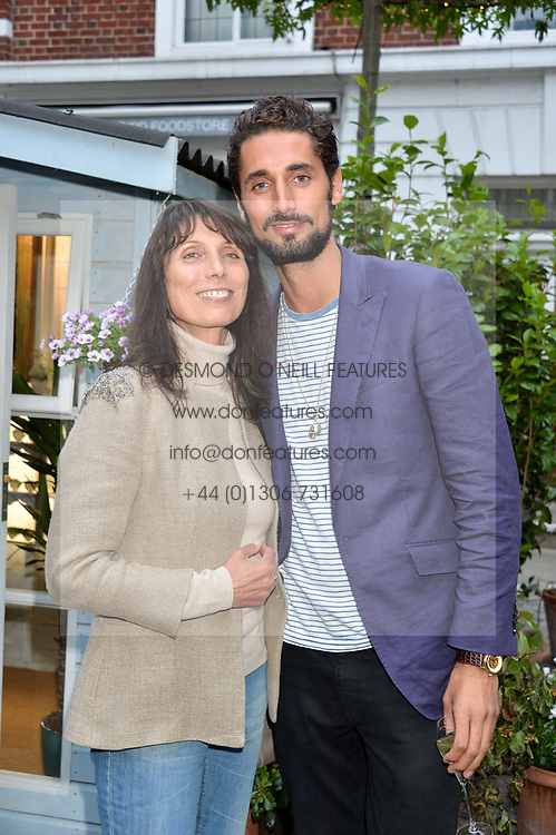 Hugo Taylor and his mother Natasha Taylor at the Aspall Tennis Classic Players Party hosted by Aspall and Taylor Morris Eyewear at Bluebird, 350 King's Road, Chelsea, London England. 28 June 2017.