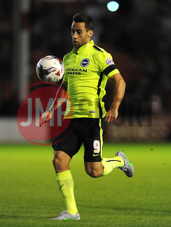 Sam Baldock of Brighton & Hove Albion - Mandatory byline: Dougie Allward/JMP - 07966386802 - 25/08/2015 - FOOTBALL - Bescot Stadium -Walsall,England - Walsall v Brighton - Capital One Cup - Second Round